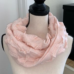 NEW Anthropologie Madison 88 pink infinity scarf